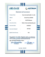 ASD/EASE Statement of Assessment